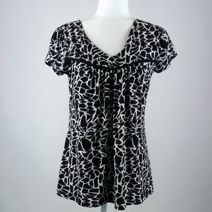 Suzie in the city print top size small
